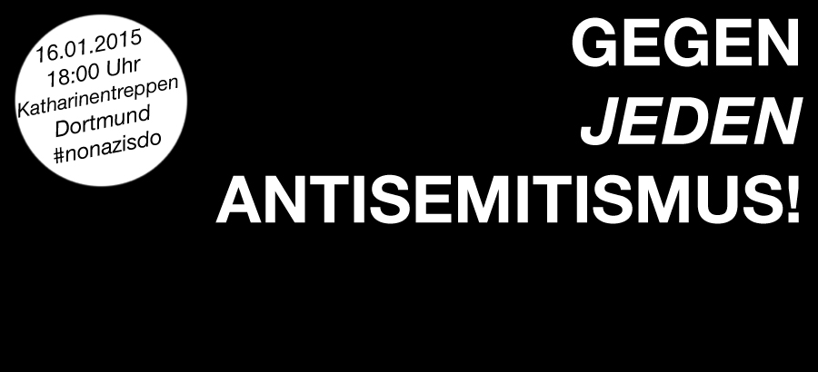Schriftzug Gegen jeden Antisemitismus