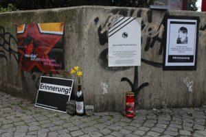 Gedenkstelle für Thomas Schulz an der Kampstraße